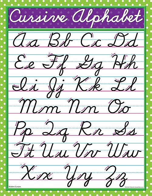 6 Images of Printable Cursive Handwriting Chart