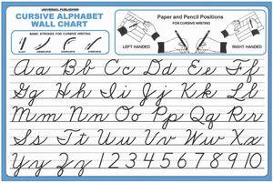 cursive writing chart