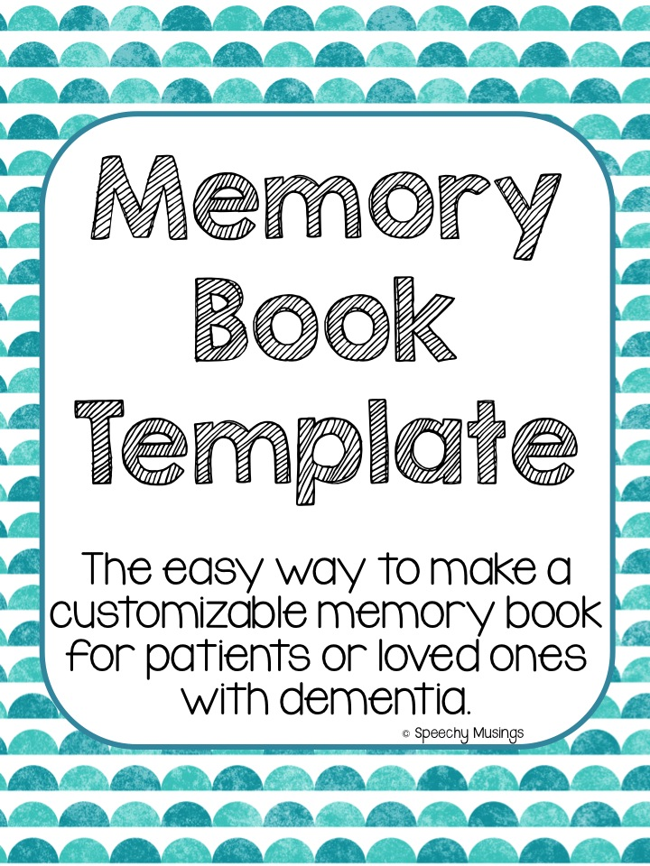 7 Images of Dementia Memory Book Printable Pages