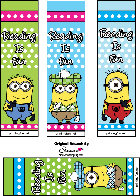 7 Images of Minion Bookmarks Printable