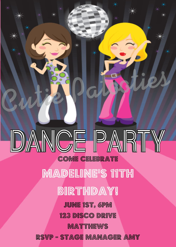 7 Images of Dance Party Invitations Printable