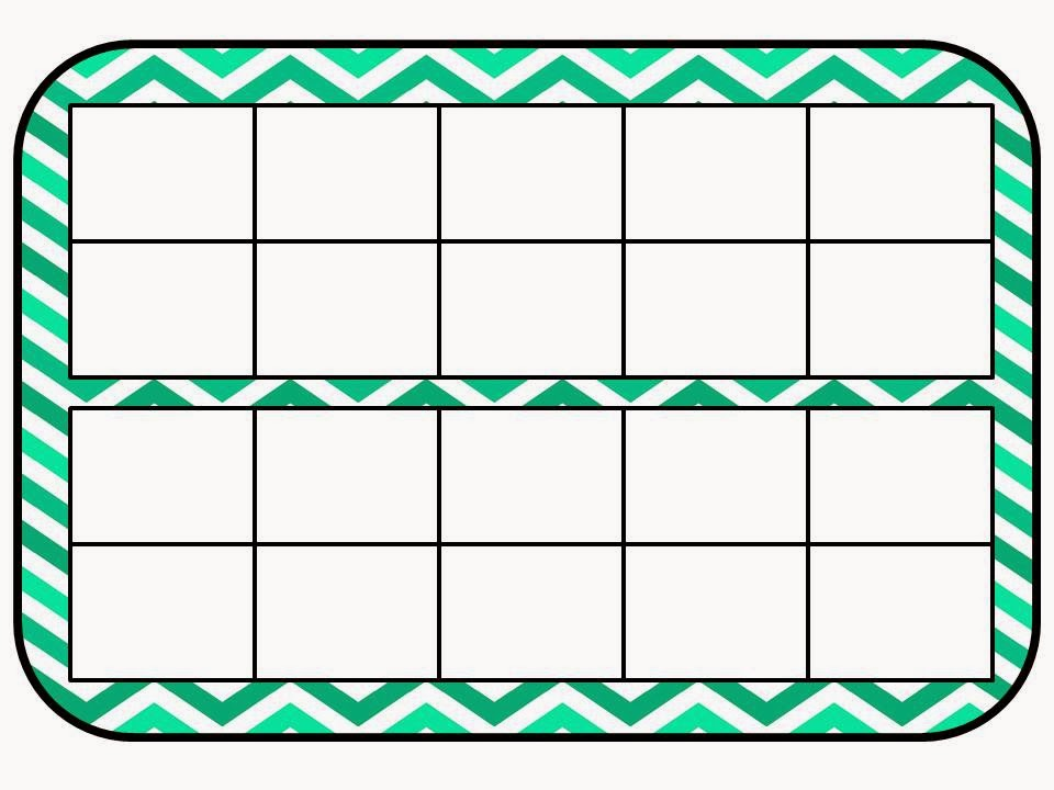 Printable Ten Frame Mat - Double Ten Frame Worksheet, Double Ten Frame ...