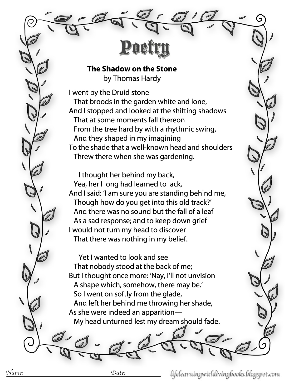 Emily Dickinson Printable Poems