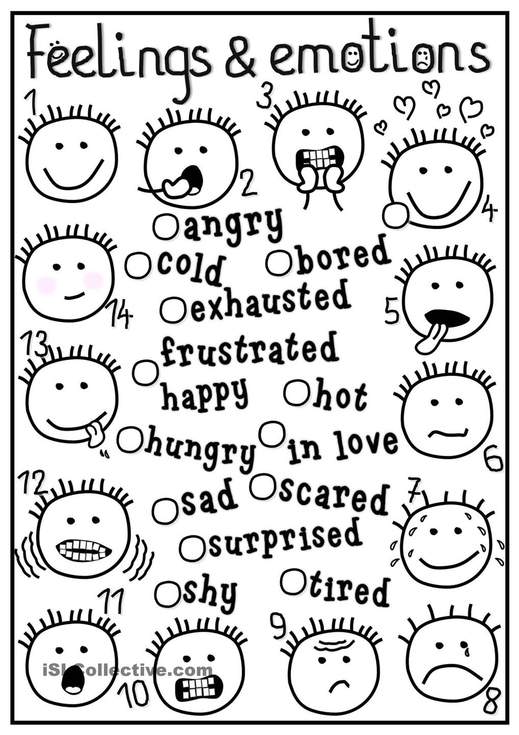 free printable emotions coloring pages - photo#9