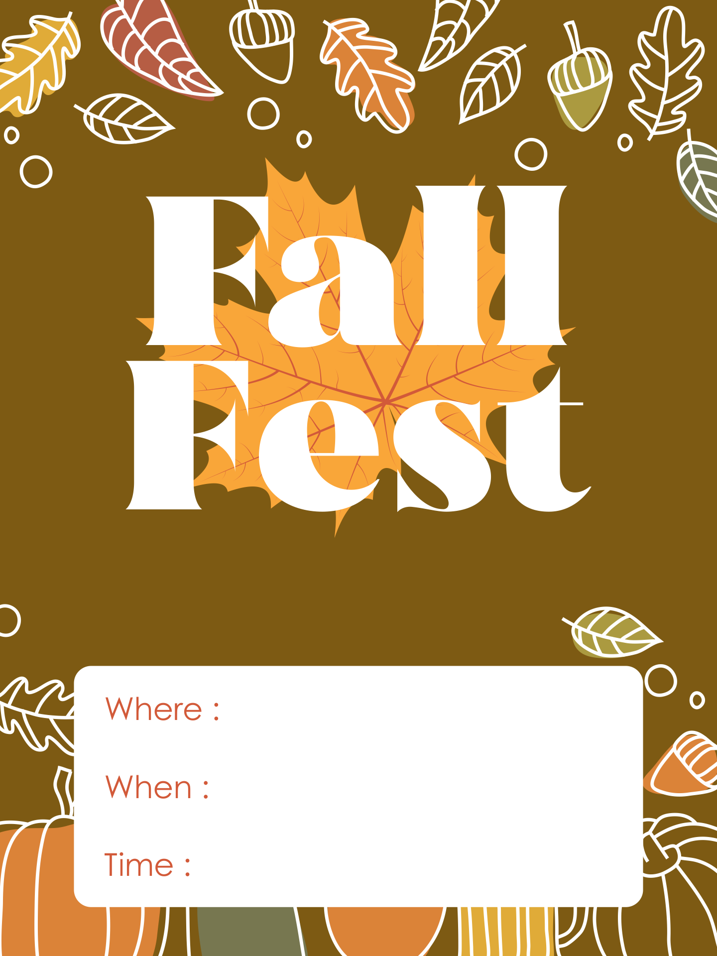 Fall Event Flyer Templates