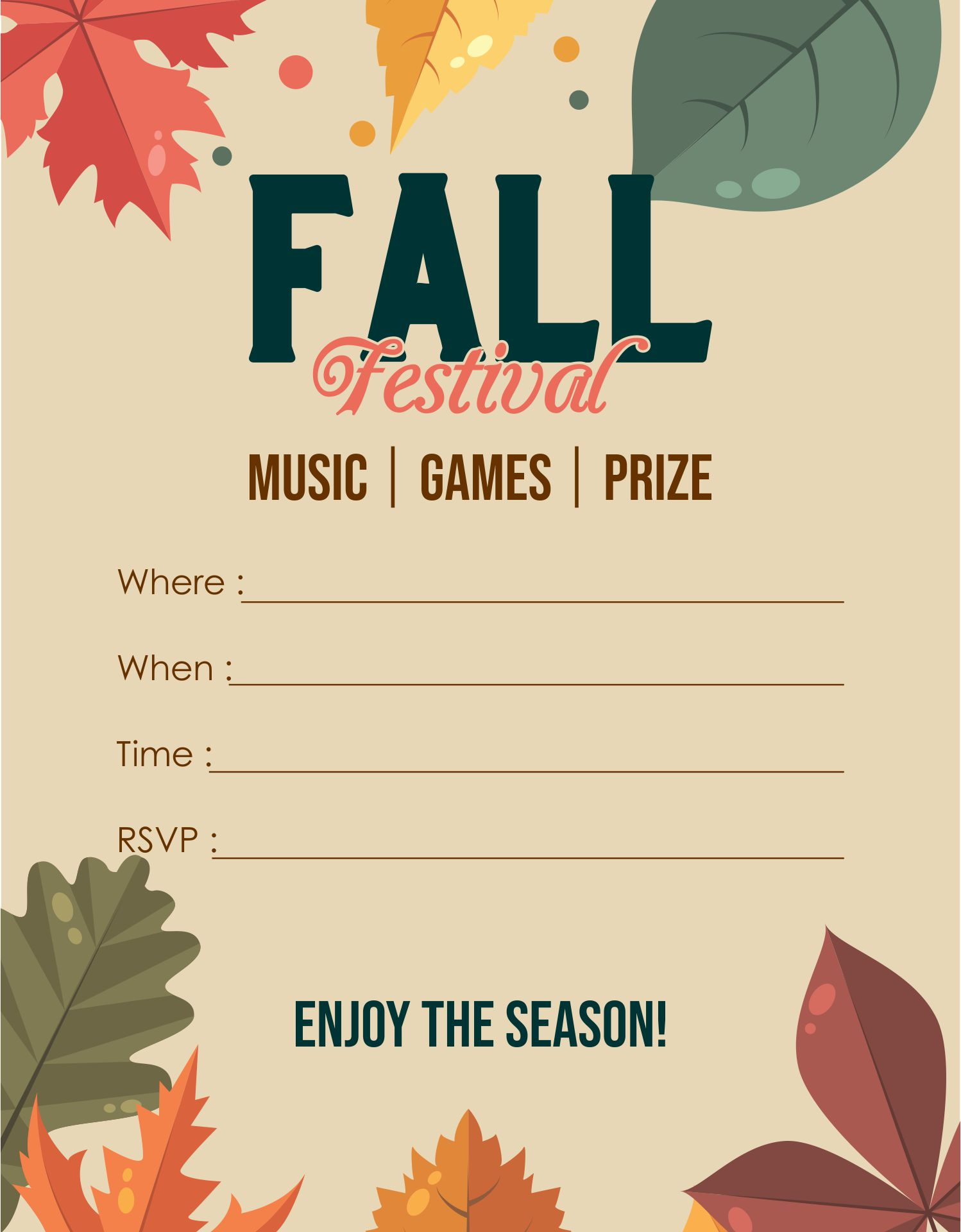 Free Fall Flyer Border Templates
