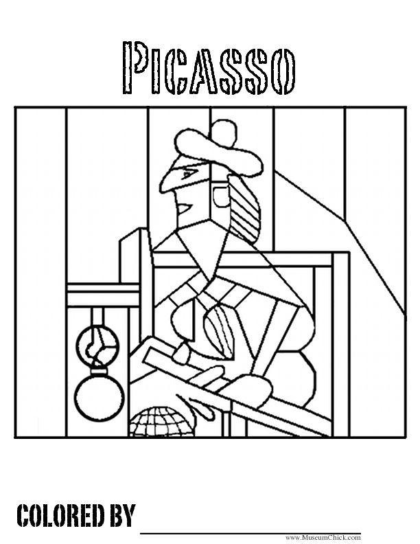 6 Images of Picasso Printable Coloring Pages