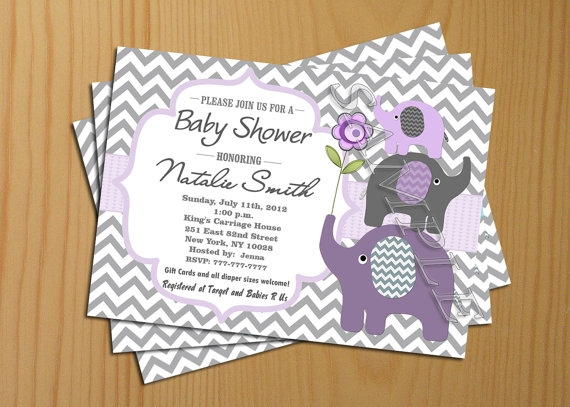 7 Images of Chevron Baby Shower Invitation Printable