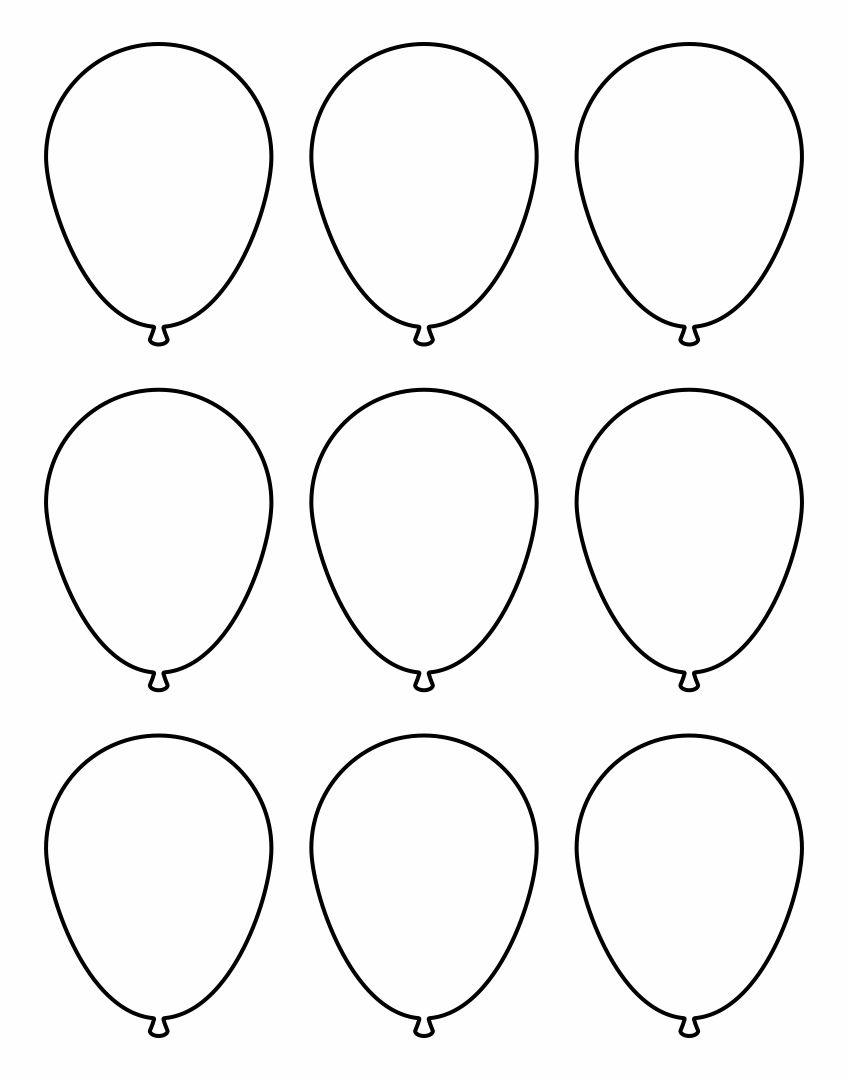 Printable Balloon Outline