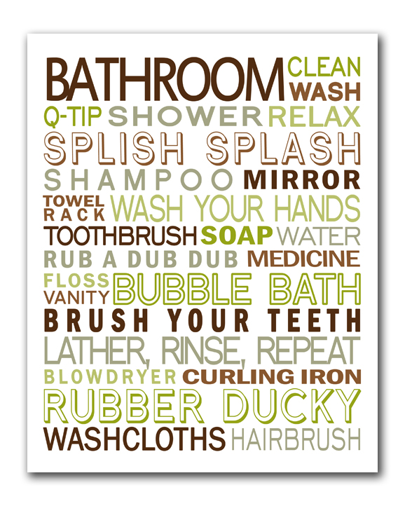 Free Printable Bathroom Subway Art