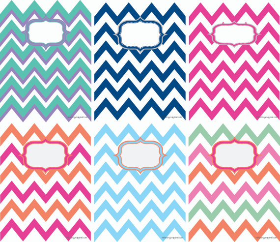 8 Images of Chevron Binder Cover Printables