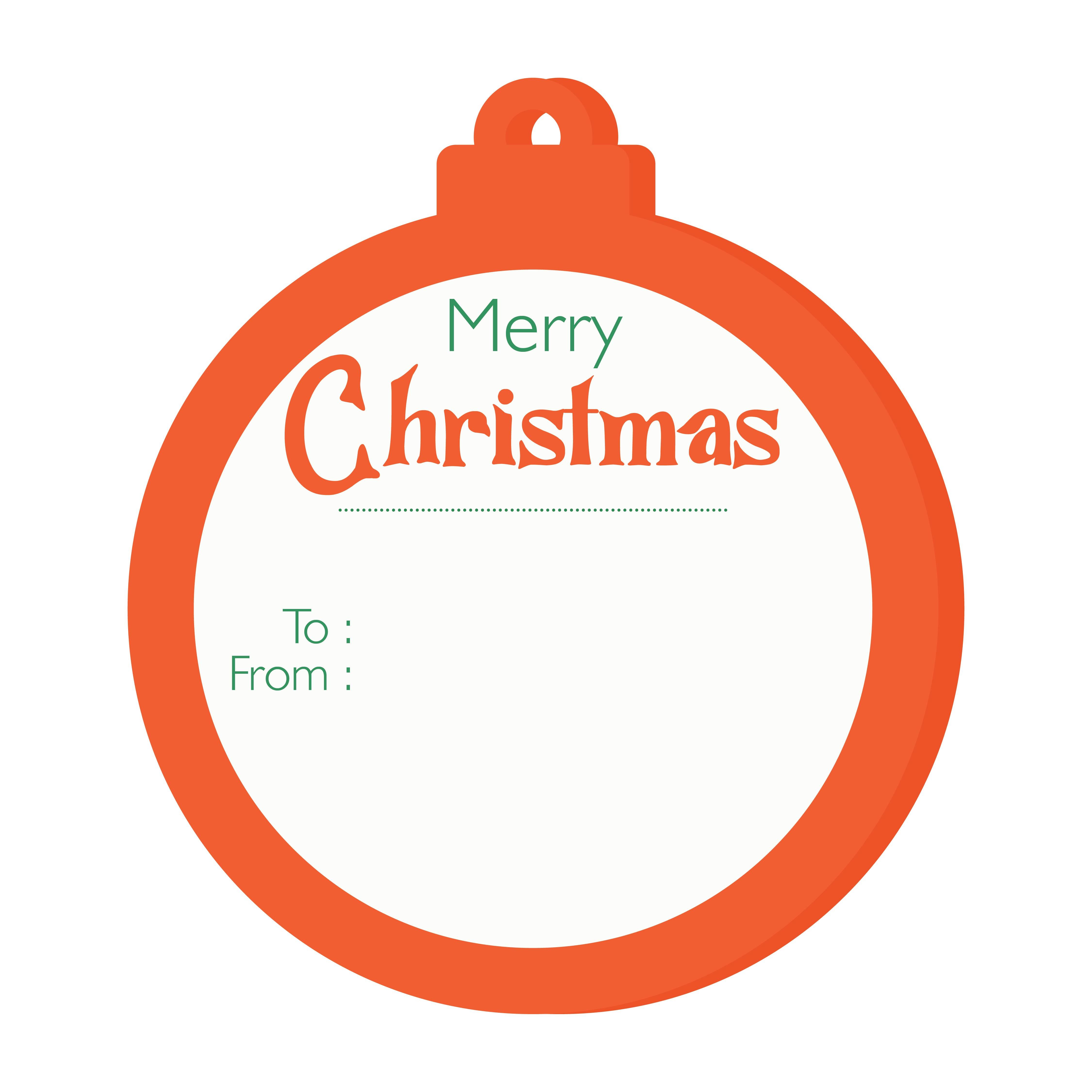 Printable Christmas Gift Tag Clip Art