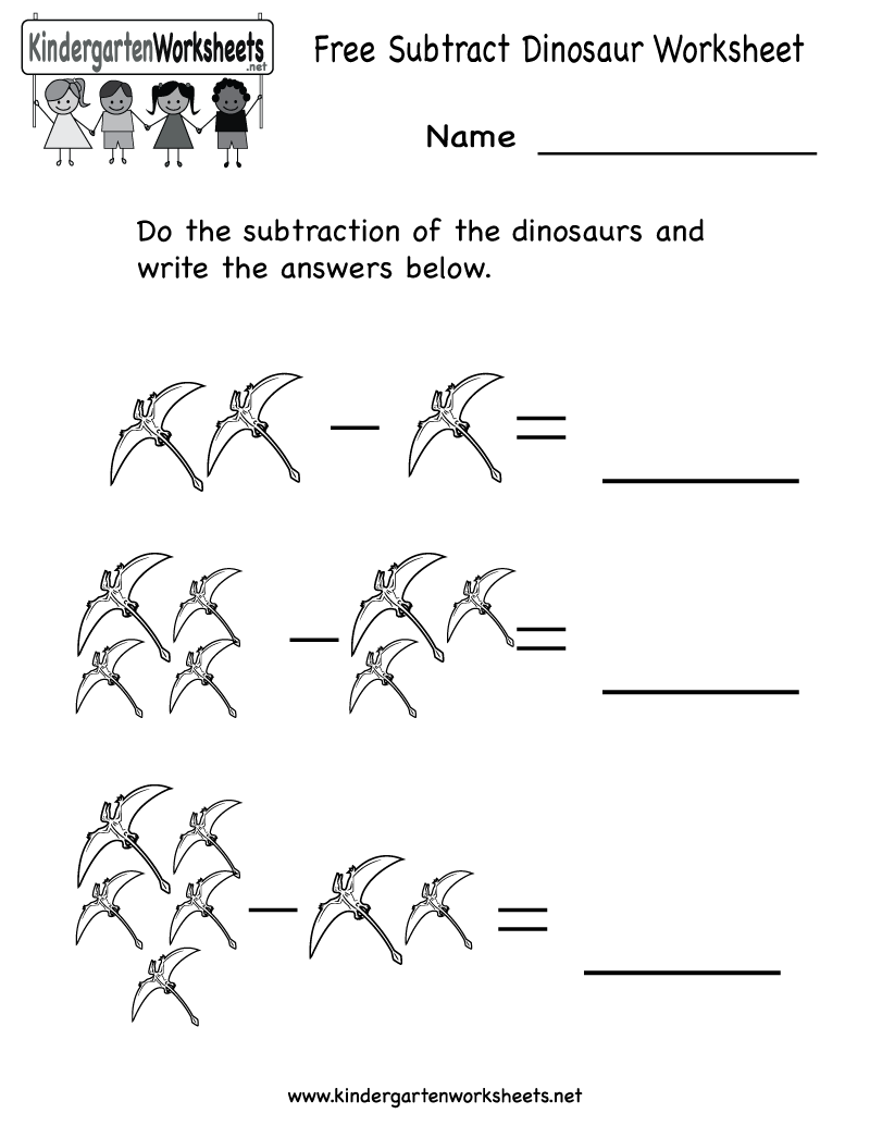 Worksheets For Dinosaurs : Best images of dinosaur kindergarten worksheets