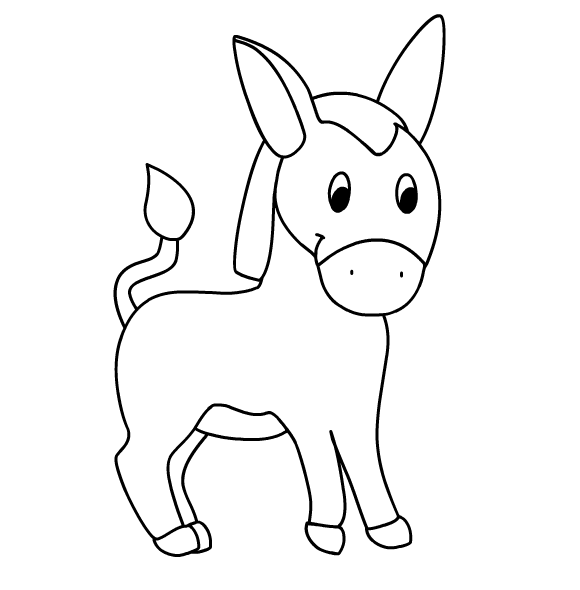 4 best images of printable picture of a donkey donkey for Donkey coloring pages free