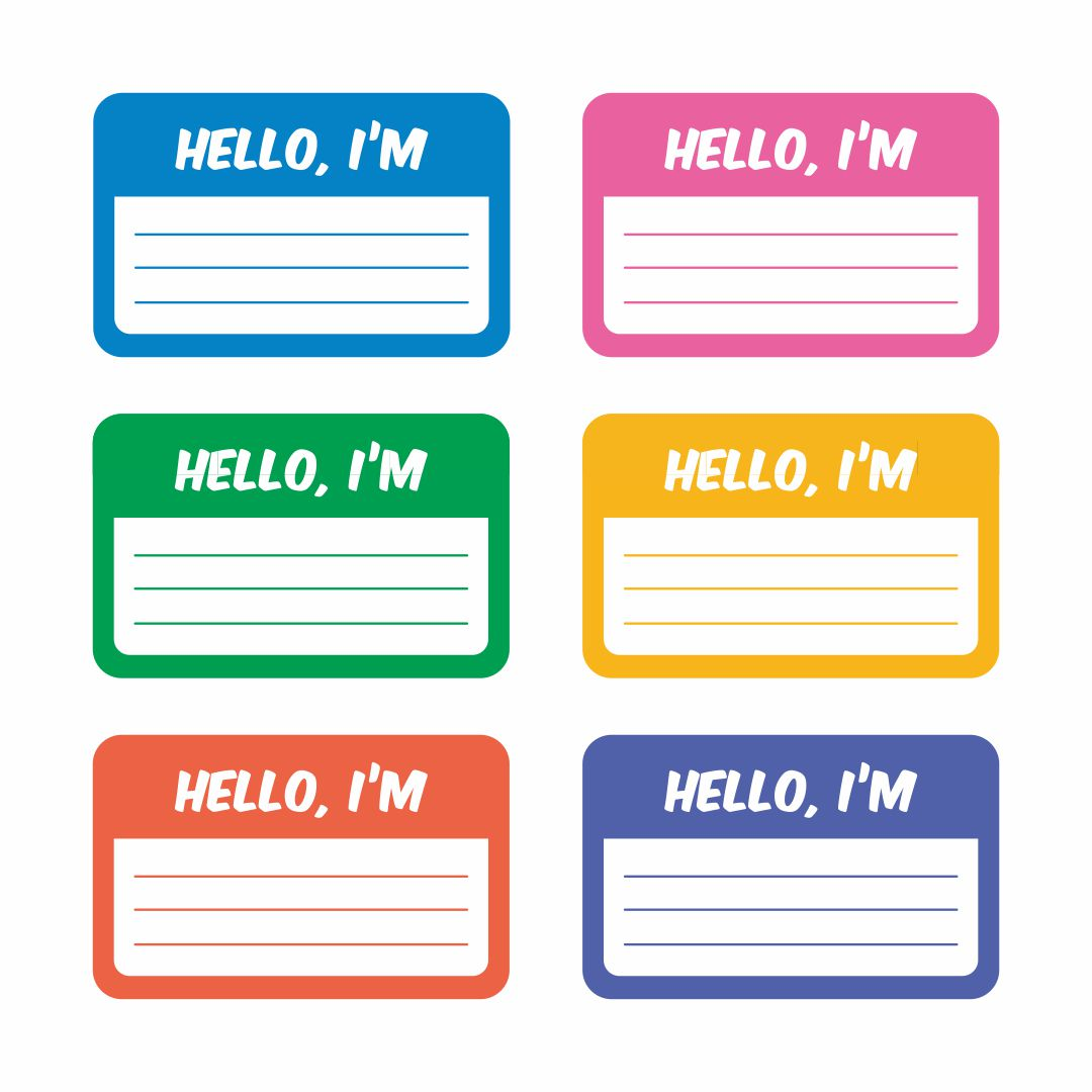 Printable Kindergarten Name Tags