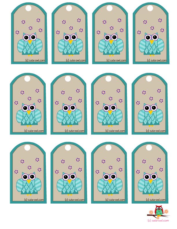 Free Printable Owl Favor Tags