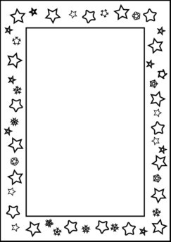 Writing border for kids