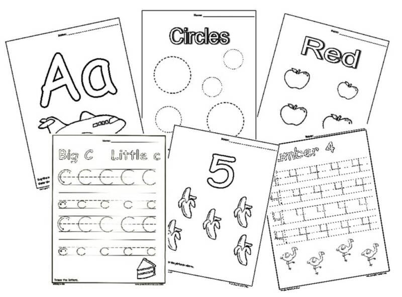 5 Images of Free Printable Preschool Games