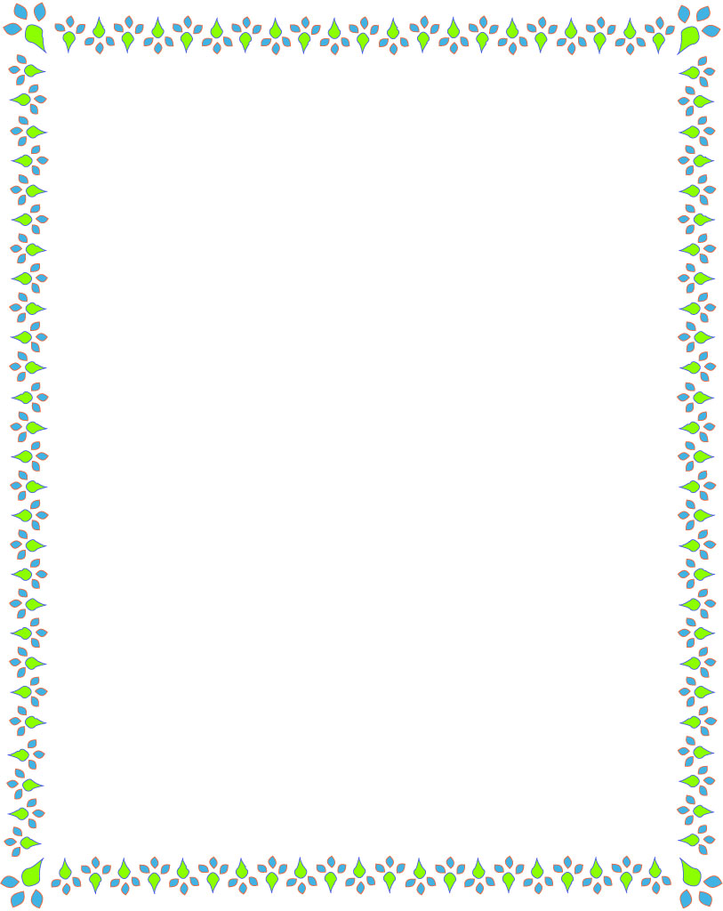 Best Images of Spring Border Paper Printable - Free Printable ...