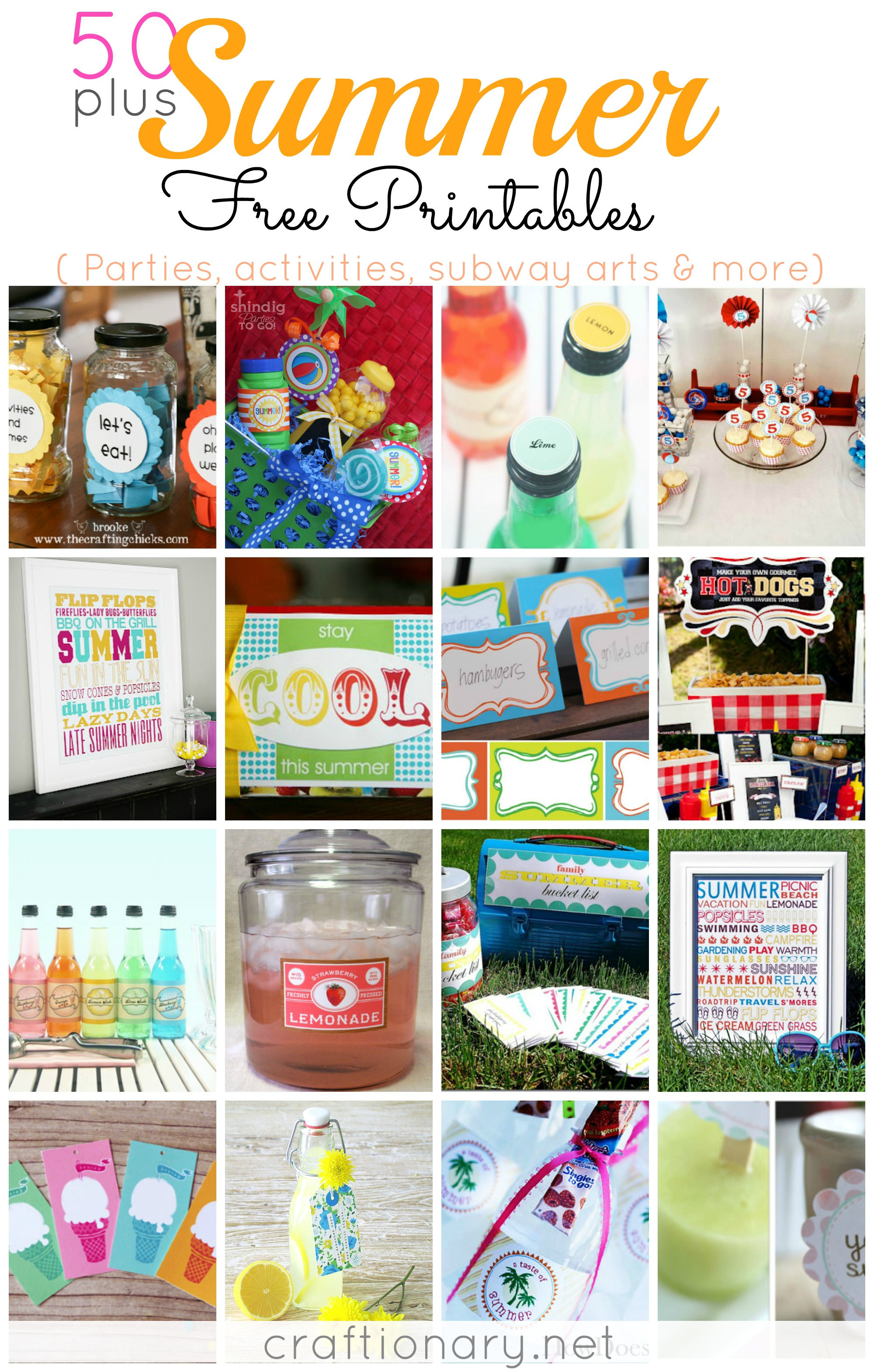 Free Printable Summer Arts and Crafts