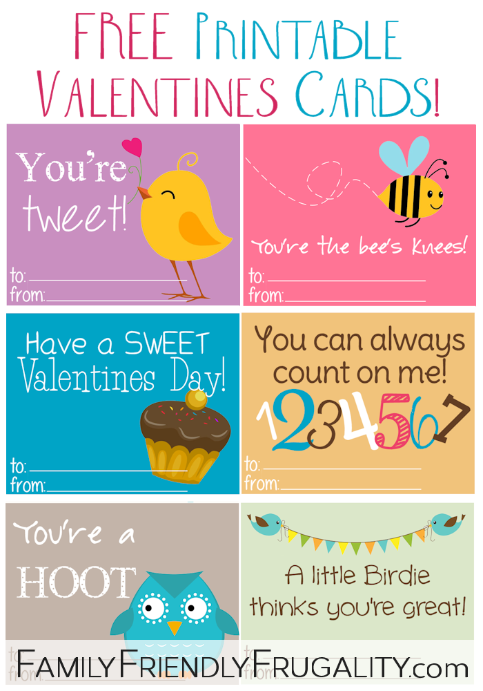 7 Images of Free Printable School Valentine's Day Cards