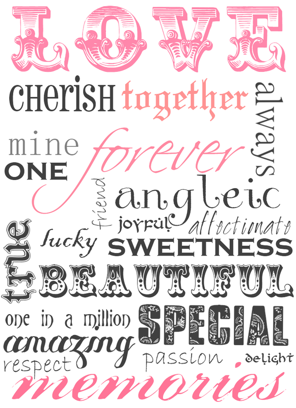 Free Printable Word Art