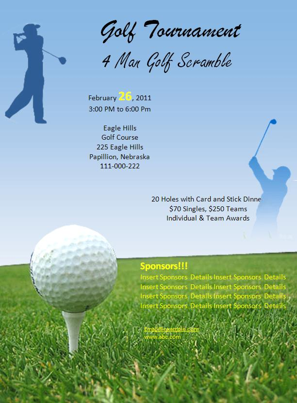 golf tournament invitations templates. Black Bedroom Furniture Sets. Home Design Ideas