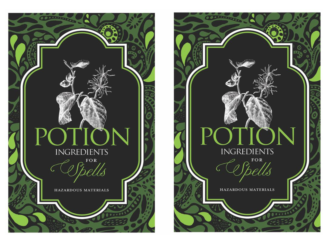 6 Images of Halloween Witch Potion Bottle Label Printable