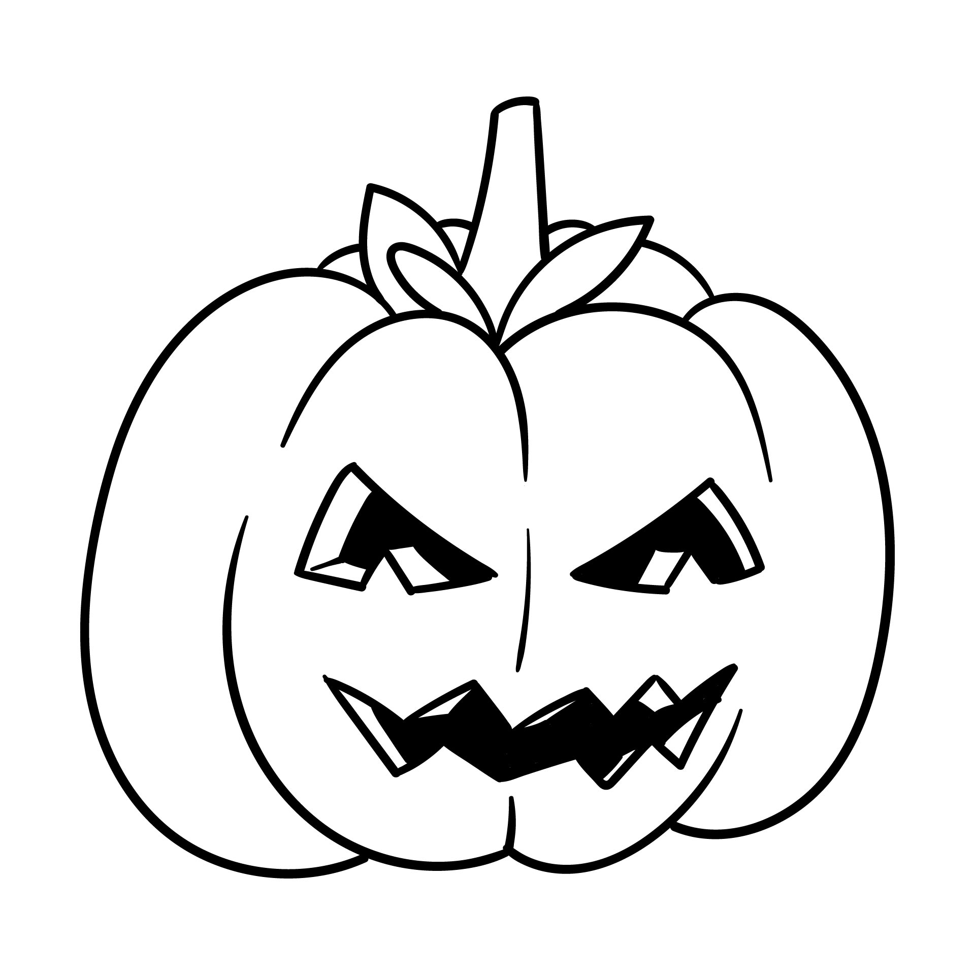 5 Images of Printable Coloring Pages Pumpkin Halloween