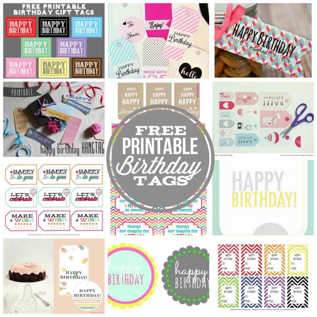 Happy Birthday Tags Free Printables