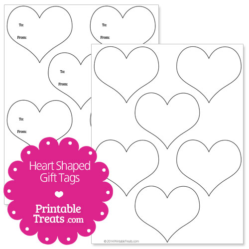 7 Images of Heart Shaped Printable Gift Tags