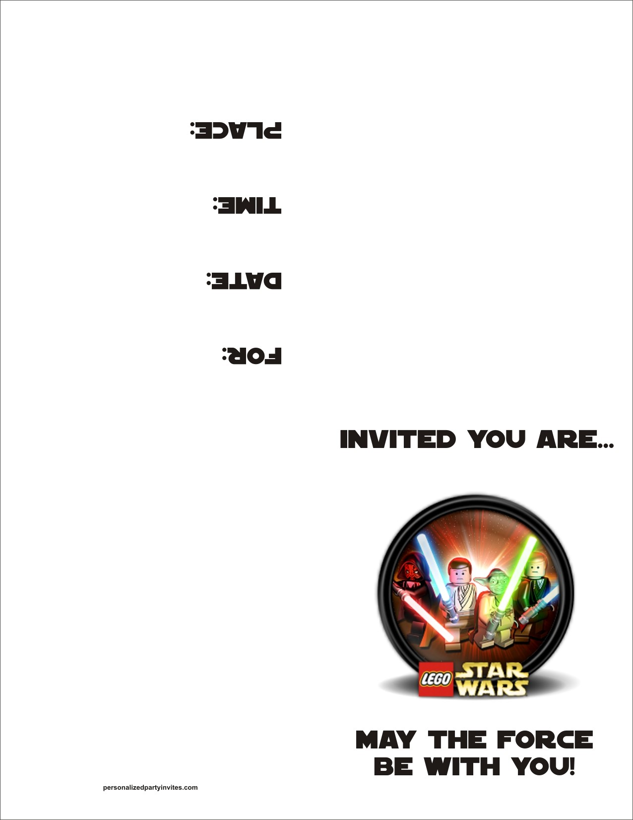 9 Images of Star Wars Birthday Party Invitation Printable