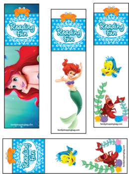8 Images of Free Printable Mermaid Bookmarks