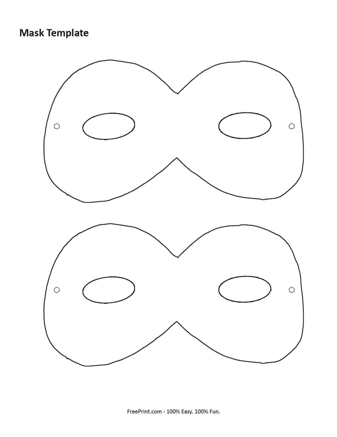 caterpillar mask template - 6 best images of mask printable template masquerade mask
