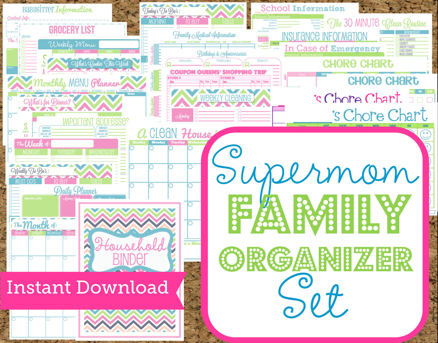 7 Images of Home Organization Printables For Moms
