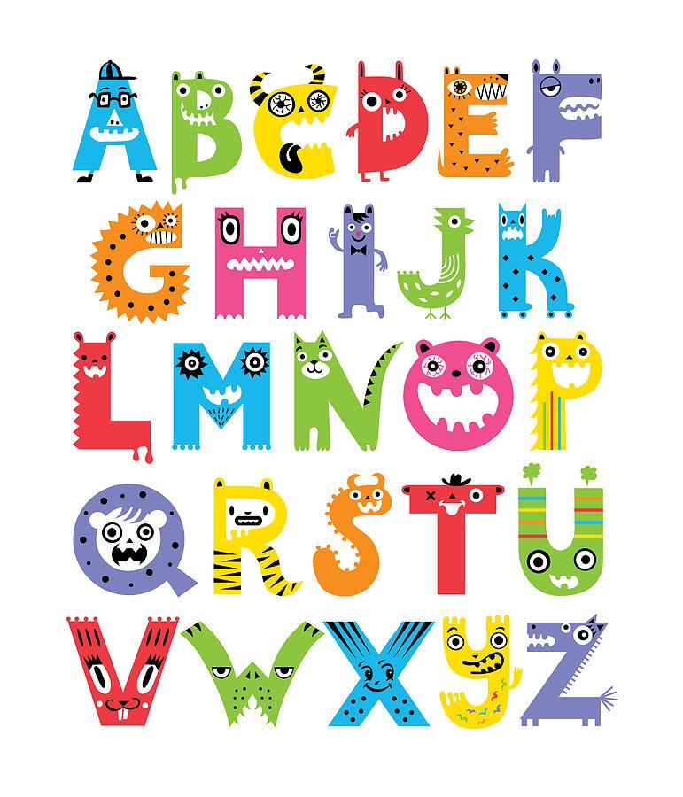 Alphabet Letters - Free Printable Monster Alphabet, Monster Alphabet ...