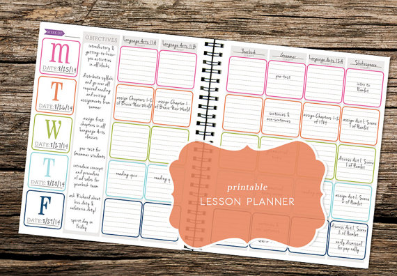 7 Images of Cute Printable Lesson Planner
