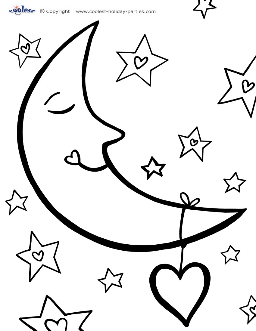 7 Images of Adult Star And Moon Printables