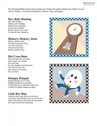 Mother Goose Nursery Rhymes Print