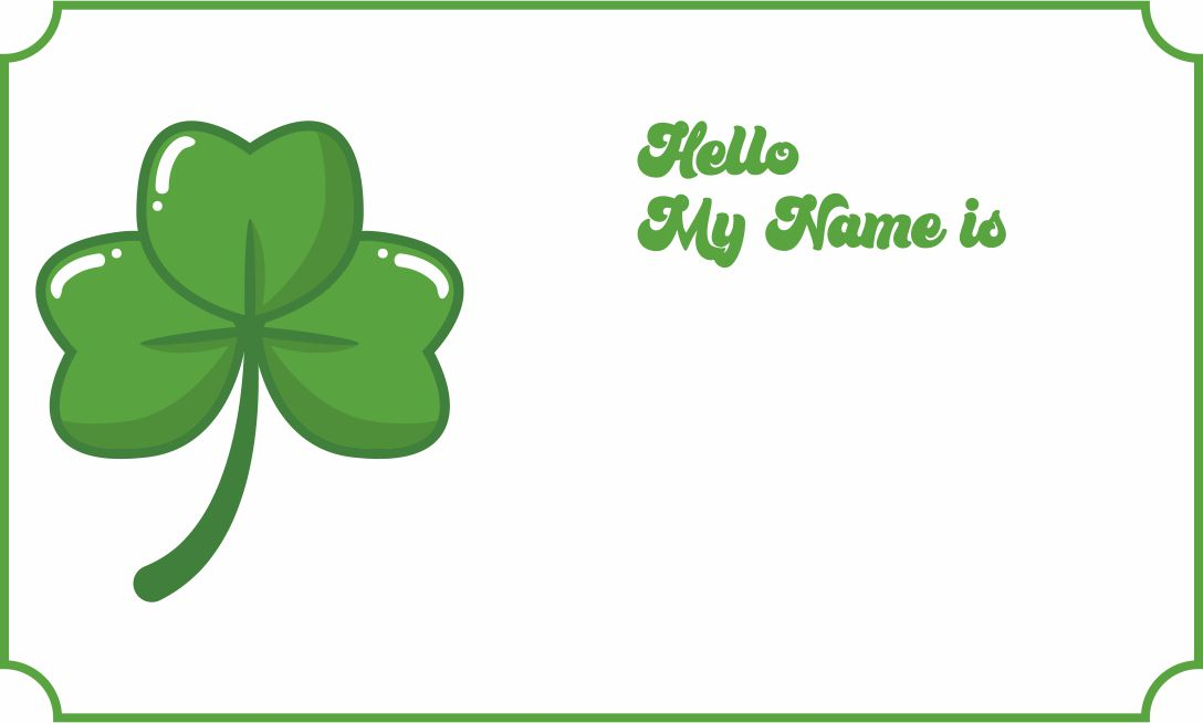 Name Tags St. Patrick's