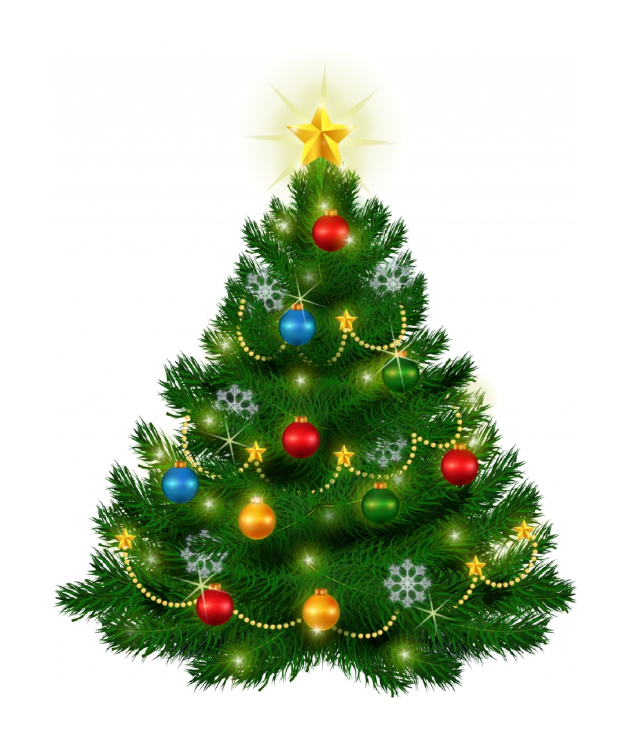 Old-Fashioned Christmas Tree Clip Art