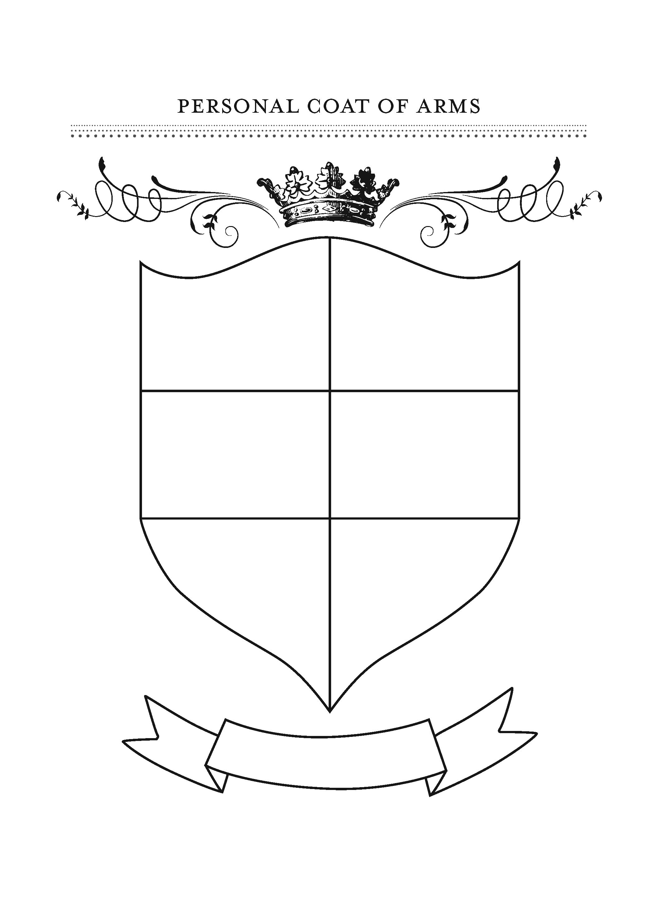 4 Images of Printable Family Crest Shield