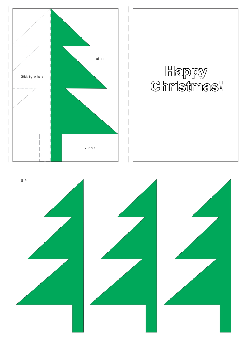 5 Images of Printable 3D Christmas Cards