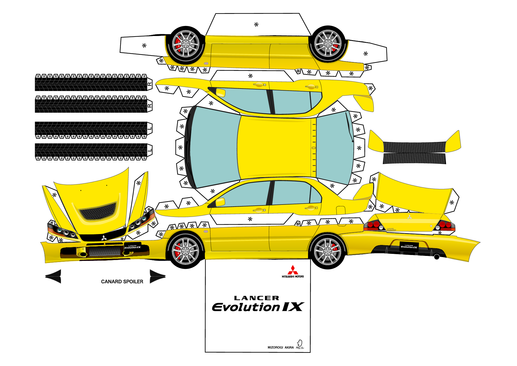 Printable 3D Cars Paper Crafts Templates