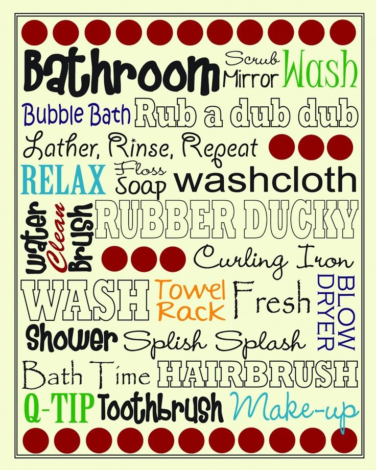Printable Bathroom Subway Art