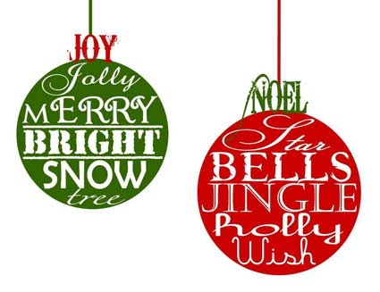 9 Images of Free Printable Christmas Decor