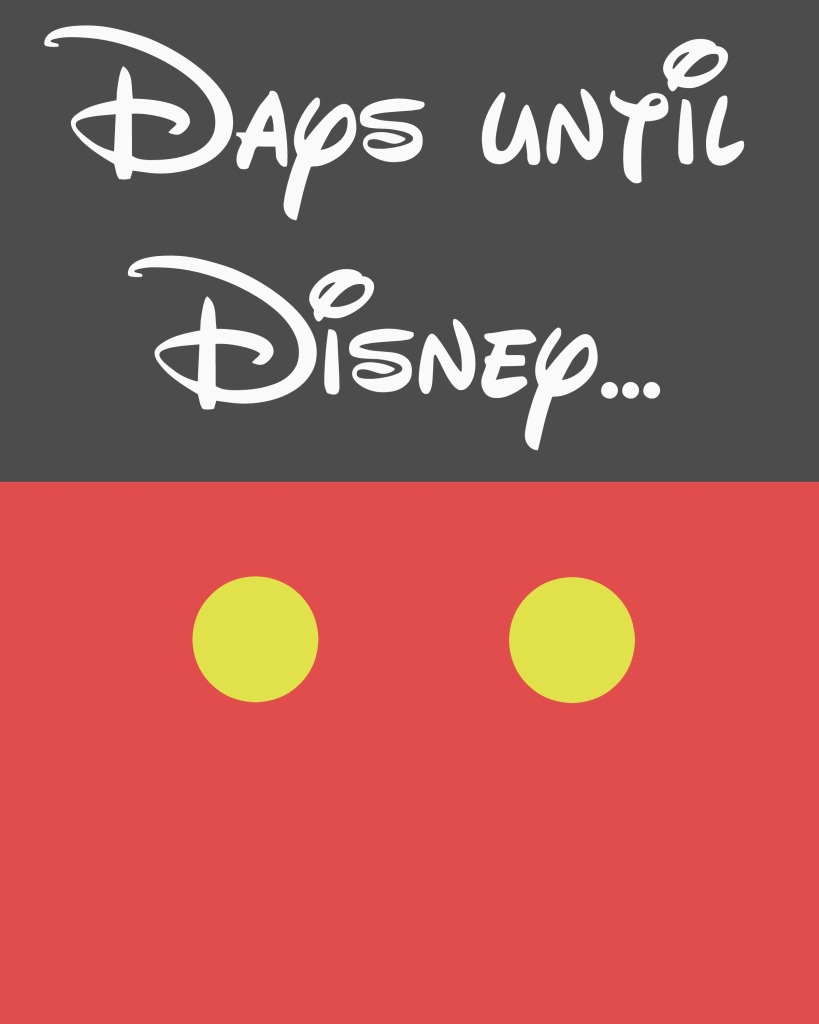 9 Images of Days Until Disney Printable