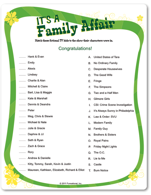 6 Images of Printable Party Games Family