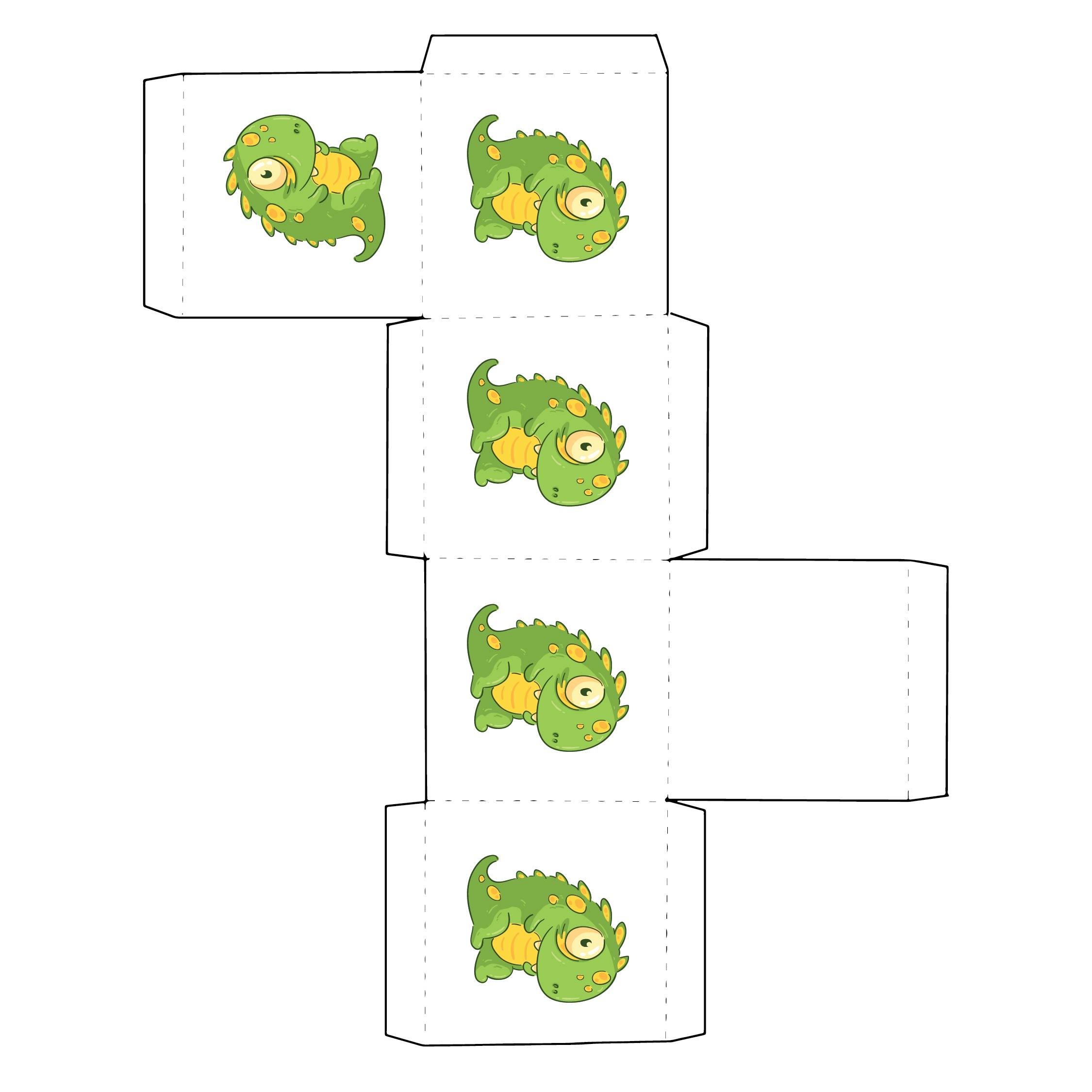 Printable Halloween Cupcake Boxes
