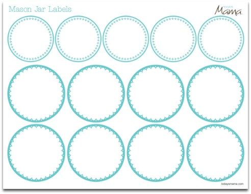 7 Images of Printable Blank Mason Jar Lid Label Templates